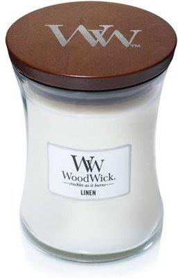 WoodWick Candle Medium Linen