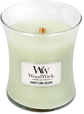 WoodWick Candle Medium Sweet Lime Gelato