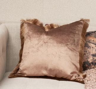 fabulous fringe pillow cover caramel