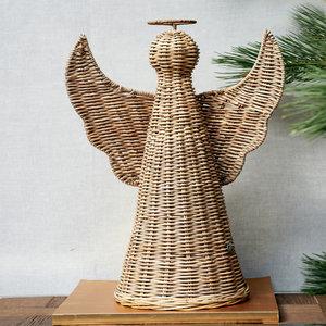riviera maison rustic rattan christmas angel m