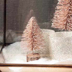 riviera maison glittering mini tree dusty pink
