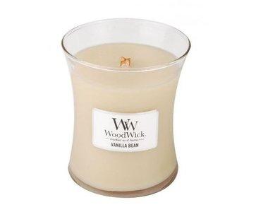 woodwick geurkaars medium vanilla bean