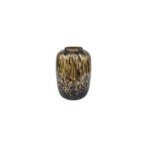 gold cheetah bulb vase small