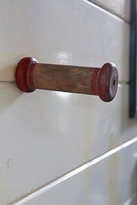 Antique spool hook m
