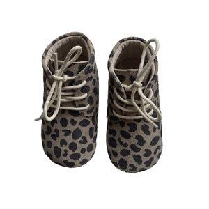 little indians leopard booties