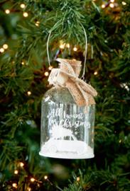 All I Want Christmas Car Bottle Ornament
