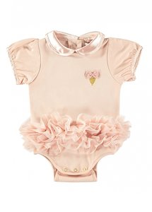 Angels Face Tutu Onesie Blush Pink
