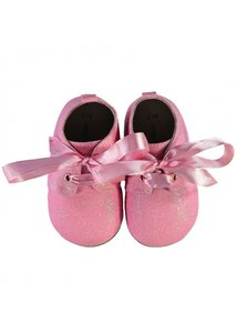 Angels Face Baby Booties Pink