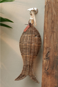 rustic rattan fish m