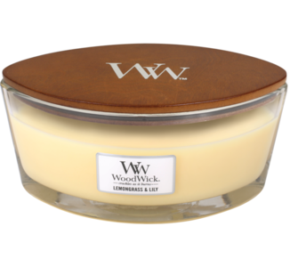 WoodWick Candle Ellipse Lemongrass & Lily