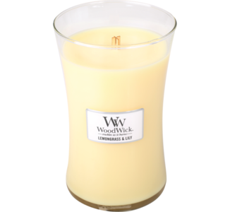 woodwick candle lemongrass en lily
