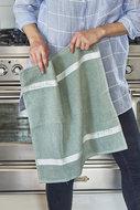 riviera maison kitchen towel leaf green